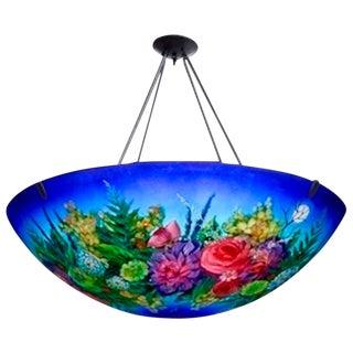 "Ulla Darni ""Floral Blue"" Chandelier"