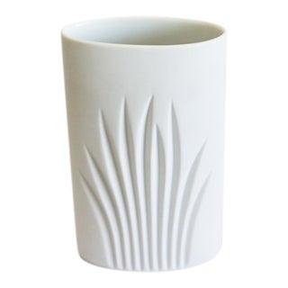 Rosenthal White Bisque Op Art Vase