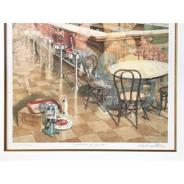 """""""Fountain of Youth"""" Lithograph by Charles (Cl) Peterson - Image 4 of 5"""