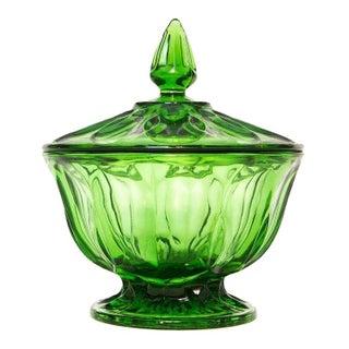 Emerald Glass Apothecary Jar