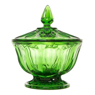 Emerald Glass Apothecary Jar