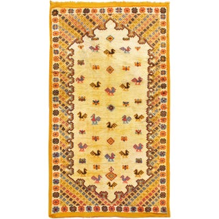 Vintage Moroccan Hand Knotted Rug - 3'10 X 6'7