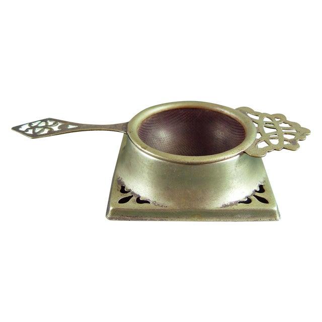 Vintage English Tea Strainer & Stand - Image 1 of 7
