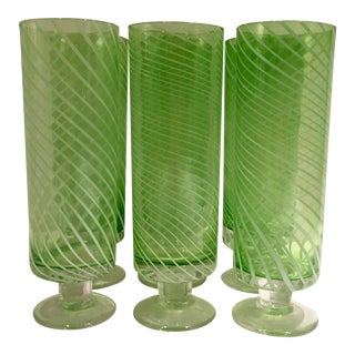 Vintage Swirl Parfait Glasses - Set of 6
