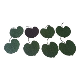 Leaf Wine Rubber Beverage Coasters - Set of 8
