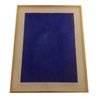"Original Framed Abstract ""Yves Klein Bleu"" Series by Francisco Franco"