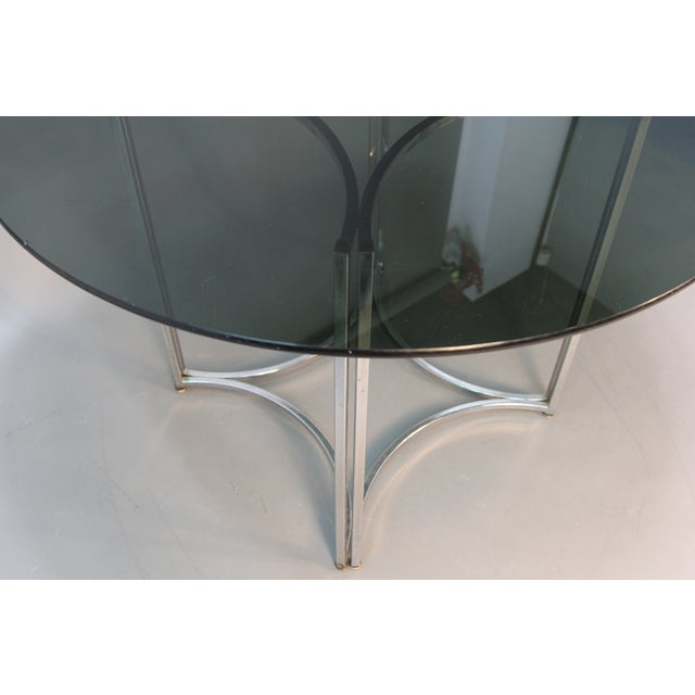 Chrome and Smoked Glass Round Top Dining Table - Image 5 of 6