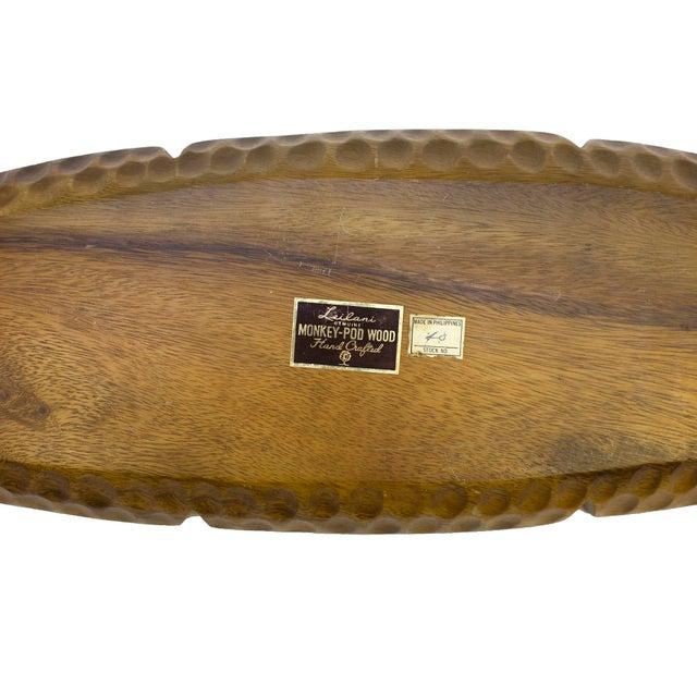 Vintage Monkey-Pod Wood Tray - Image 4 of 4