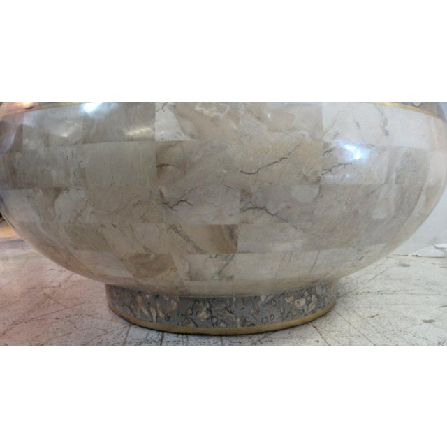 1970 Maitland-Smith Tessellated Marble Expandable Coffee Table - Image 6 of 8
