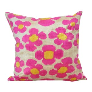 Pink Flower Power Throw Pillow