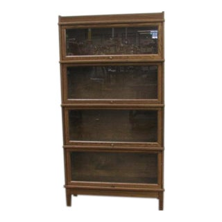 Vintage Hale Oak Barrister Sectional Bookcase