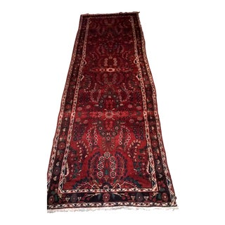 """Floral Hand Knotted Oriental Runner - 3'6"""" X 11'7"""""""
