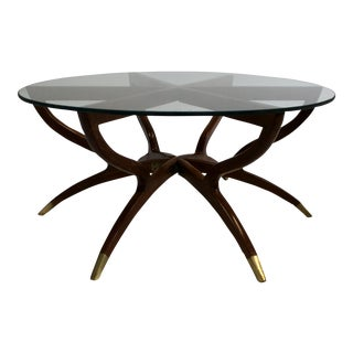 Mid-Century Modern Collapsible Spider Leg Coffee Table