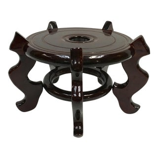 Asian Style Lacquered Wood Display Stand
