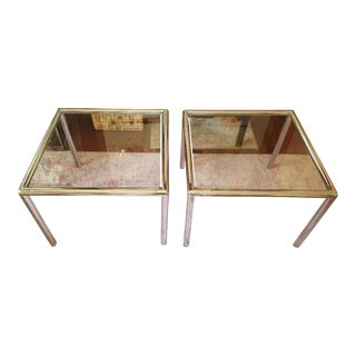 Milo Baughman Chrome & Glass Tables - A Pair