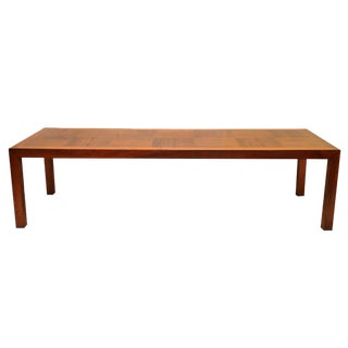 Lane Mid-Century Parquetry Coffee Table