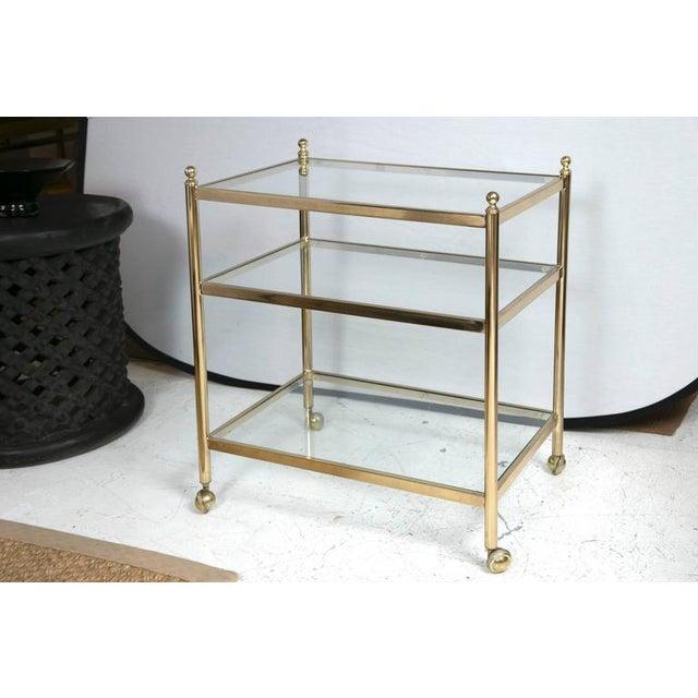 Brass Bar Cart - Image 3 of 5