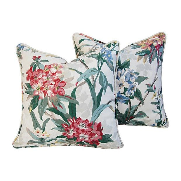 P. Kaufmann Rhododendron Pillows - A Pair - Image 6 of 7