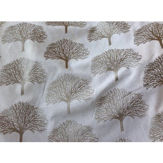 Duralee Linen Tree Embroidery Fabric - 5 Yards