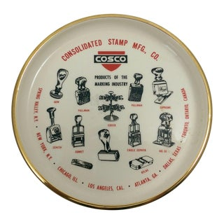 Vintage Catchall Dish Advertising COSCO Consolidated Stamp MFG., CO.