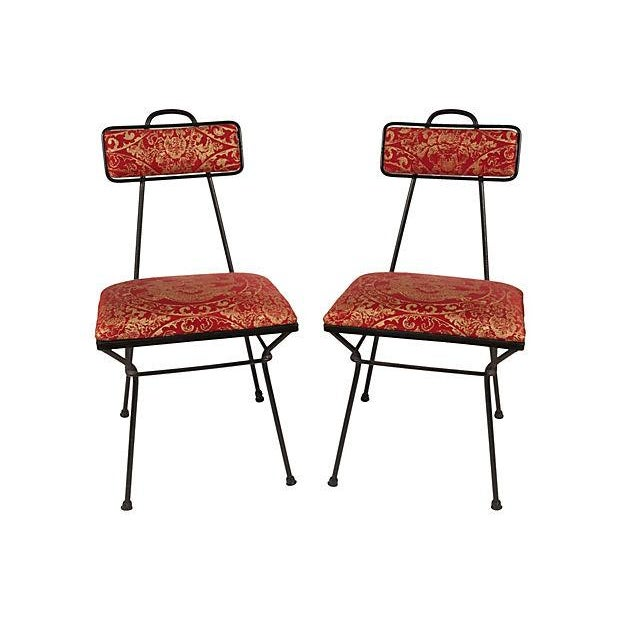 Image of French Iron Chairs - A Pair