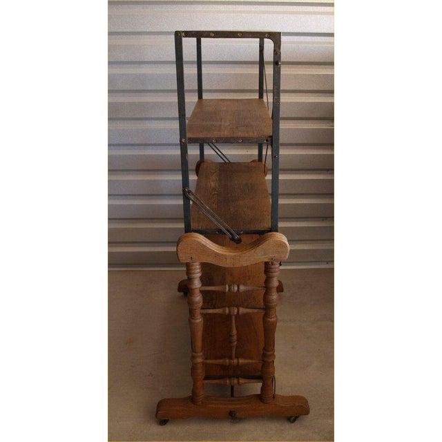 Yesbera Antique Baker Tilt Table/Shelving Unit - Image 8 of 8