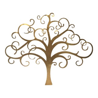 Gold Tree Wall Art