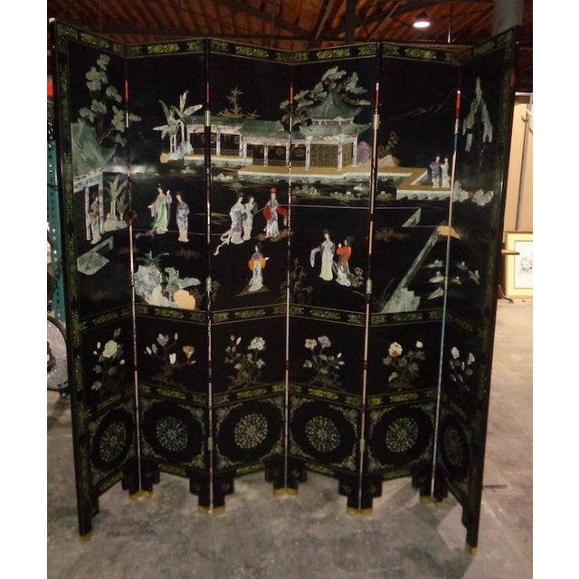 Maitland Smith Asian 6 Panel Screen - Image 2 of 5