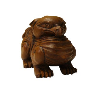 Chinese Handcarved Wooden Mythical Animal Figure