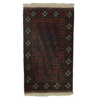 "RugsinDallas Persian Mori Hand-Knotted Wool Rug - 2'8"" X 4'5"""