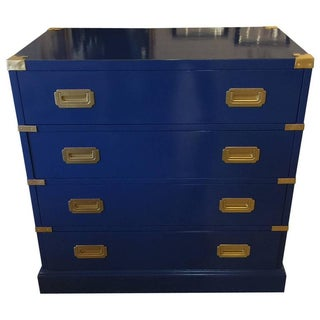 Campaign Chest in Cobalt Lacquer