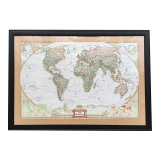 Large National Geographic World Map