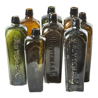Antique German Gin Bottles - Set of 8