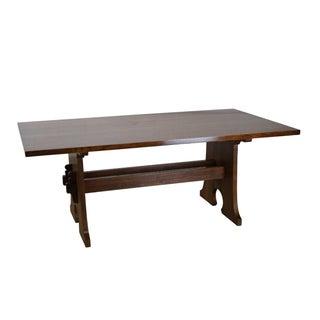 Stickley Mission Oak Mousehole Trestle Base Dining Table