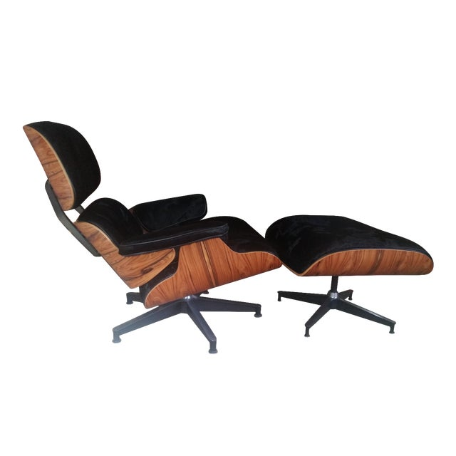 Image of Eames Herman Miller Cowhide Lounge and Ottoman