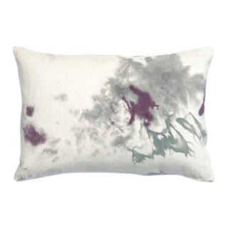 """Marbled Purple Gray Pillow Cover - 14"""" x 20"""""""