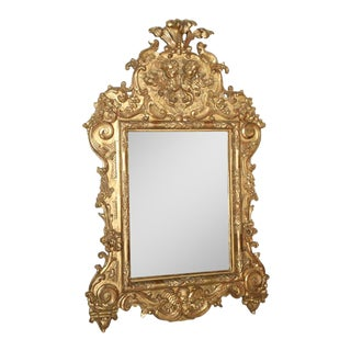 Fine and Monumental Italian Baroque Giltwood Mirror