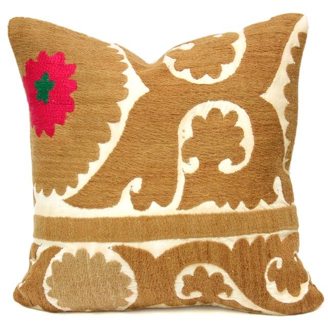 Vintage Suzani Kalamkari Pillow - Image 1 of 2