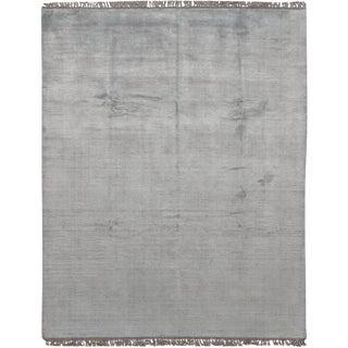 """Simplicity Aqua-Silver Contemporary Rug - 8'2"""" x 10'1"""""""