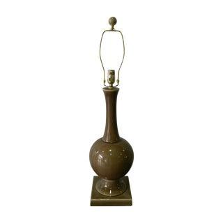 Brown Crackle Ceramic Table Lamp