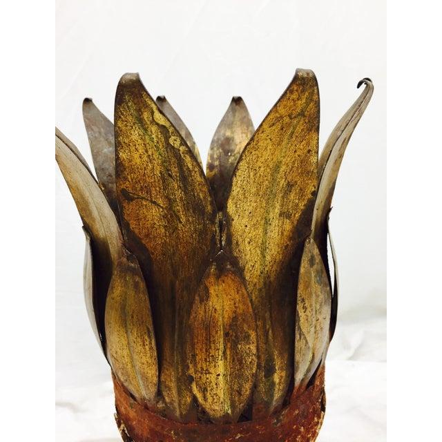 Antique Gold Tole Planter - Image 9 of 11
