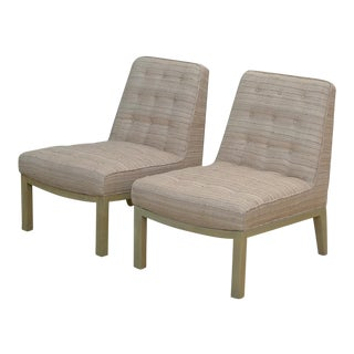 Vintage Mid-Century Modern Edward Wormley for Dunbar Slipper Chairs