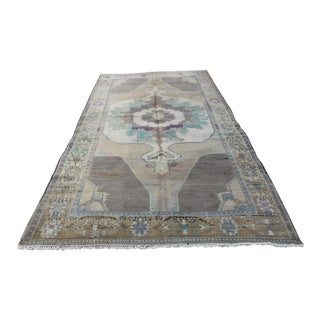 Antique Wool Oushak Rug - 5′2″ × 9′3″