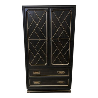 American of Martinsville Black & Gold Armoire