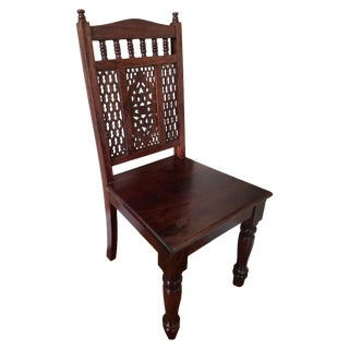 Carved Wooden Dining Chairs - Set of 6
