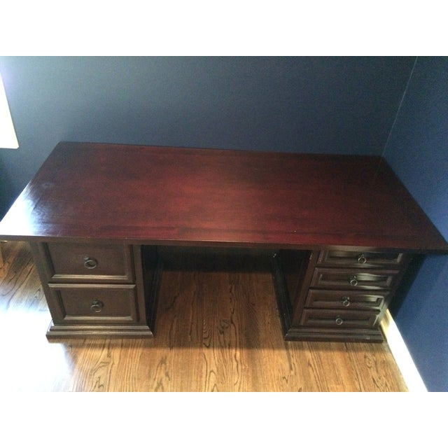 Pampa Furniture Traditional Dark Wood Desk - Image 4 of 5