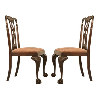 Antique Dutch Chippendale Side Chairs - A Pair