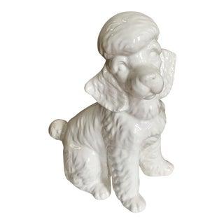 1950s White Porcelain Poodle Figurine