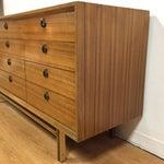 Image of Zebra Wood and Brass 12 Drawer Dresser