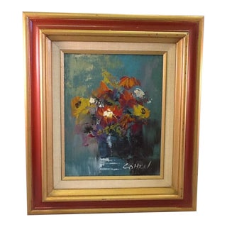 Vintage Floral Still Life Original Painting